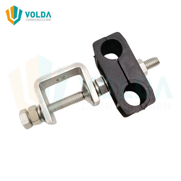 Outdoor Stainless Steel Cable Clamp for 1/2 inch Feeder